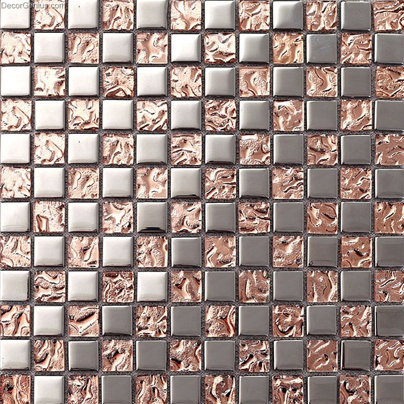 pink home 3d floor tile mosaic dgmm012 metal kitchen
