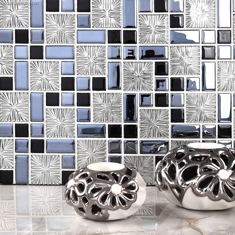 galvanized 3d metalic discount backsplash kitchen mosaic