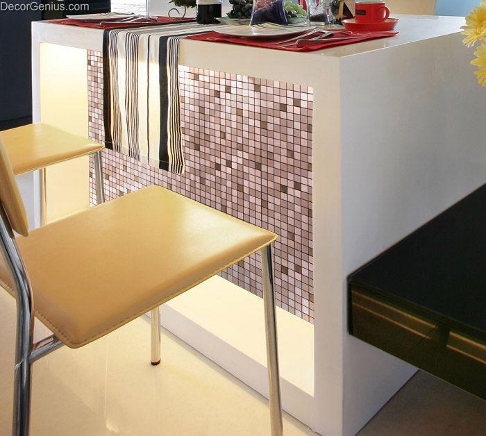 Cheapest Bathroom Tiles: Self Adhesive Metal Cheap Wall Tiles DGMM019 Aluminum 3D
