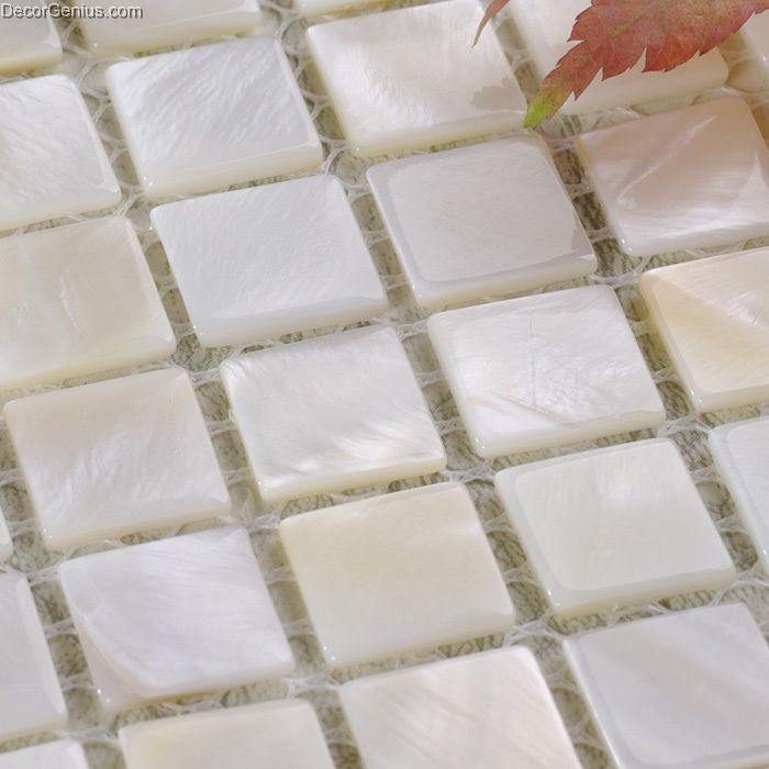 cheap wholesale kitchen backsplash shell tile home decor