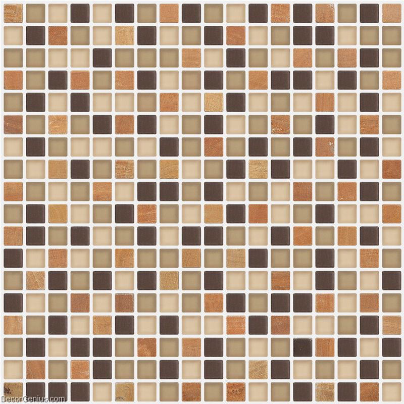 Sample Brown Glass Natural Stone Linear Mosaic Tile Wall: Bathroom Natural Stone Tile Mixed Glass Wall Decoration