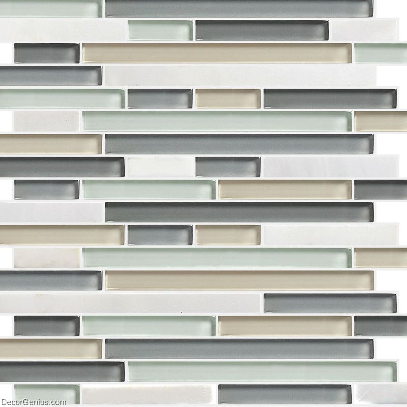 Silver Kitchen Wall Tiles: White Mixed Silver Wall Tile Home Kitchen Glass Backsplash