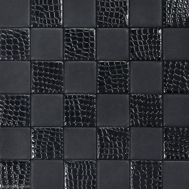 living room black leather backsplash tile high quality