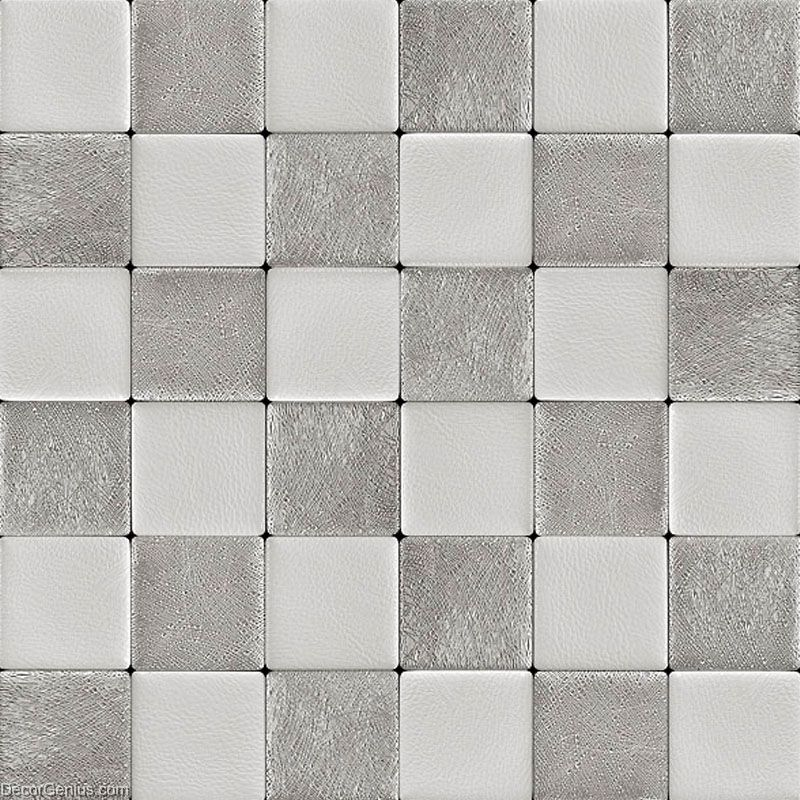 Decorgenius White Grey Leather Wall Tile Living Room Decor Wall Tiles Mosaic Dgwh037 Dgwh037