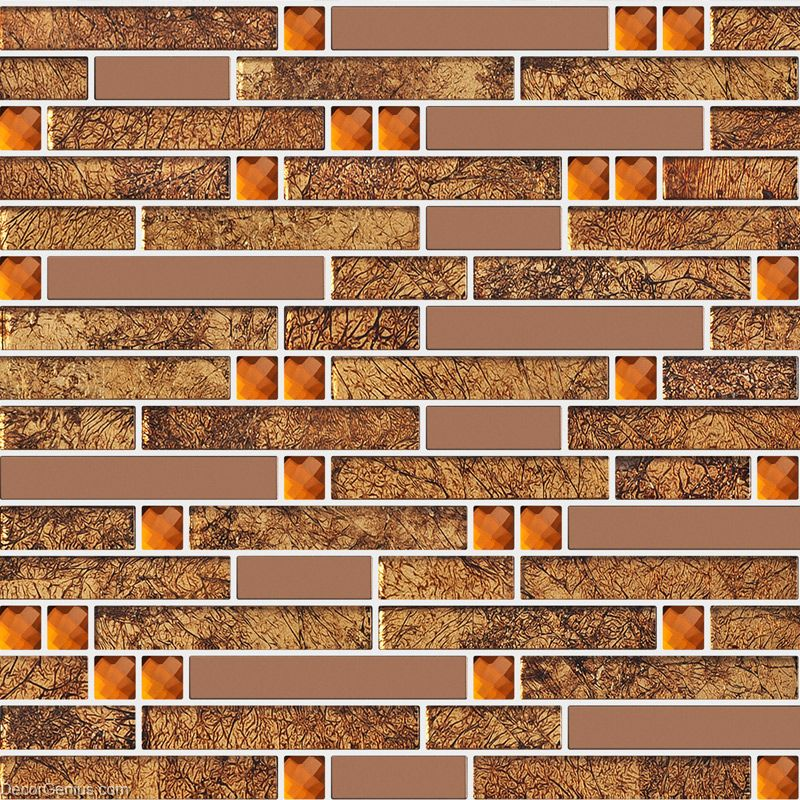 Living room glass mosaic tile mixed stainless steel mosaic for Living room 3d tiles