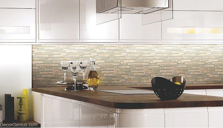 light grey natural stone strip mosaic floor tile home
