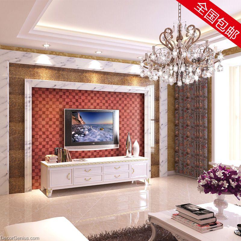 Dark Red Ladies Bedroom Wall Tile Dgwh045 Leather Hand