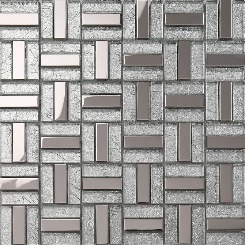 Silver kitchen wall tile backsplash galvanized bathroom - Kitchen without wall tiles ...